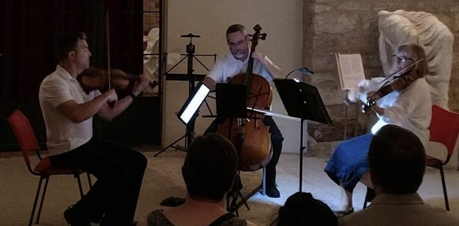 Dr.+Kemptner+performs+with+other+musicians+at+Italian+music+event.