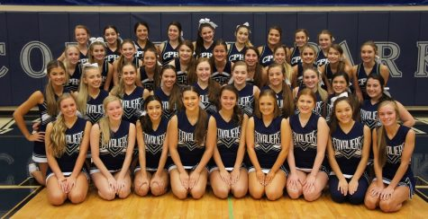 Our 2020-2021 cheer team.
