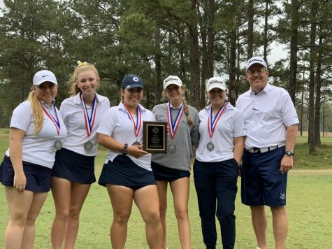 Second place finishers at the District 13-6A Golf Championship.