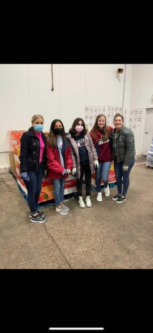 Volunteers at the Montgomery food bank