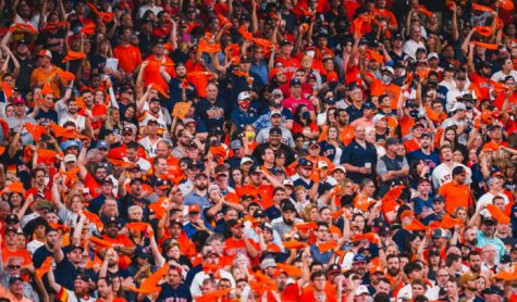 Houston Astros fans at a game.